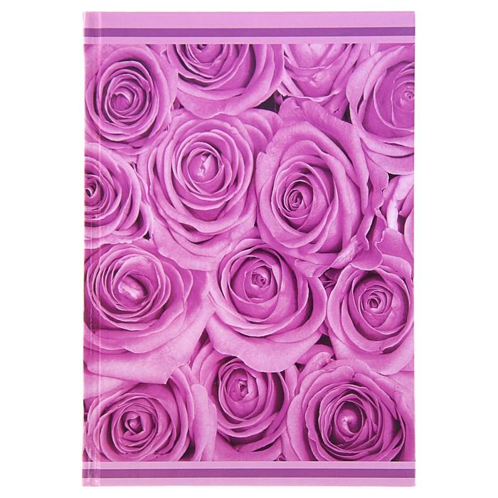 """Колледж-тетрадь А5, 80 листов клетка Calligrata """"Розы"""", твёрдая обложка"""