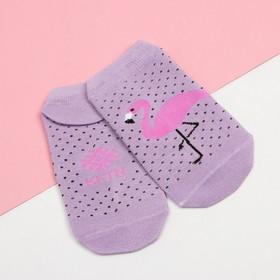 """Носки укороченные """"Фламинго"""" р.36-39 (23-25 см), розовый"""
