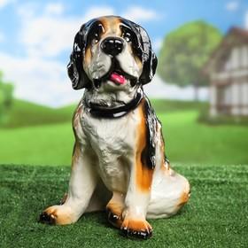 Садовая фигура 'Собака Бетховен', глянец, 32 см Ош