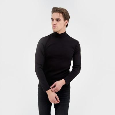 Джемпер мужской 1605 цвет чёрный, р-р 50