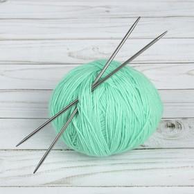 Спицы для вязания, прямые, d=3,5мм, 20см, 2шт Ош