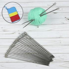 Спицы для вязания, 10 пар , d = 2-7 мм, 25 см