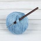 Крючок для вязания, d = 1 мм, 14 см, цвет коричневый