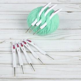 Крючок для вязания, с пластиковой ручкой, d = 1-2,75 мм, 14 см, 8 шт