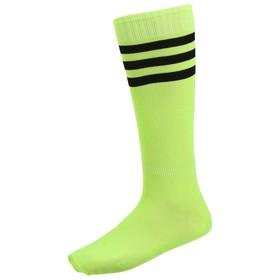 Гетры футбольные, безразмерные, цвет салатовый