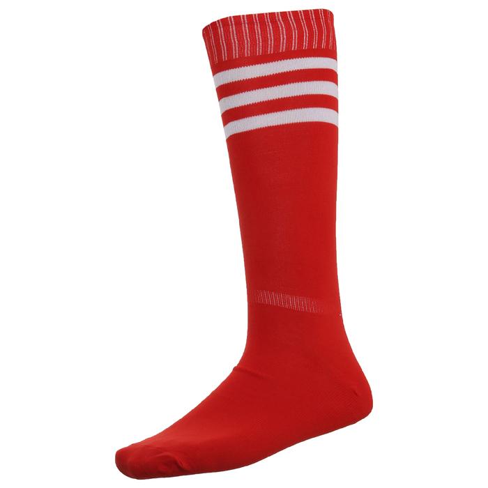 Гетры футбольные, размер 38-39, цвет красный
