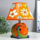 """Настольная лампа """"Веселье"""" 1хE14 40Вт оранжевый 20х20х24см."""