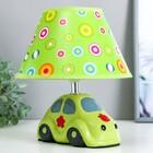 """Настольная лампа """"Машинка"""" 1хE14 40Вт зеленый 20х20х22см."""