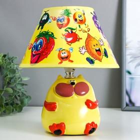 """Настольная лампа """"Кот"""" 1хE14 40Вт желтый 20х20х25см."""