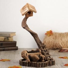 "Souvenir wood ""Birdhouse in tree"" 35,5x21,5x18,5 cm"