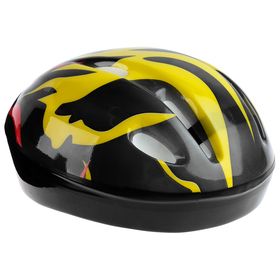 Шлем защитный детский OT-H6, размер S, 52-54 см, цвет чёрный