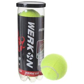 Мяч теннисный в тубе, набор 3 шт