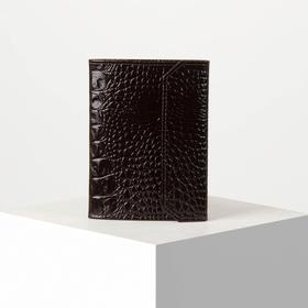 Обложка для документов, кайман, цвет коричневый
