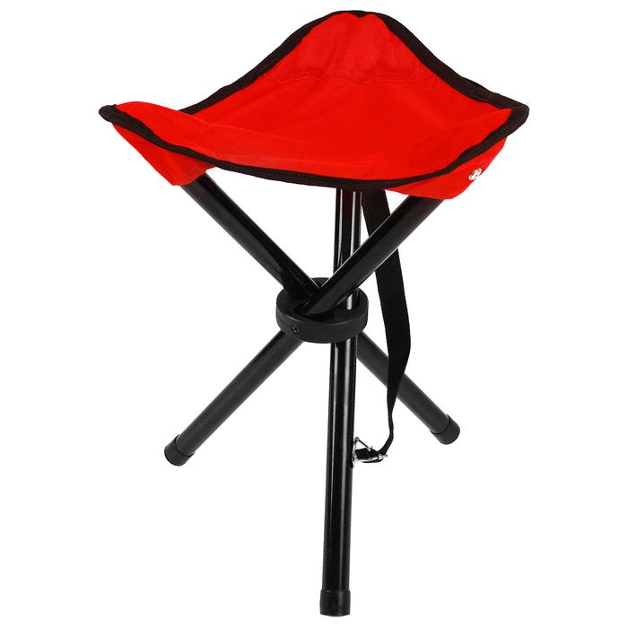 Стул туристический треугольный, 28 х 26 х 36 см, до 60 кг, цвет красный - фото 698796527