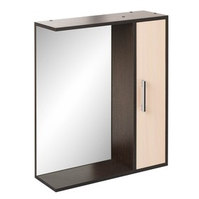 "Шкаф-зеркало ""Эко-60"" 20 х 60 х 75 см, венге/дуб молочный правый"