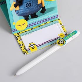 """Ручка на подставке с блоком """"Миньоны"""", Гадкий Я"""