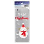 Наклейка для телефона Meow Christmas, 7 х 14 см
