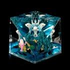 """Сувенир настольный подставка для ручки """"Дельфин и рифы"""" 6,4х6,4х6,4 см"""