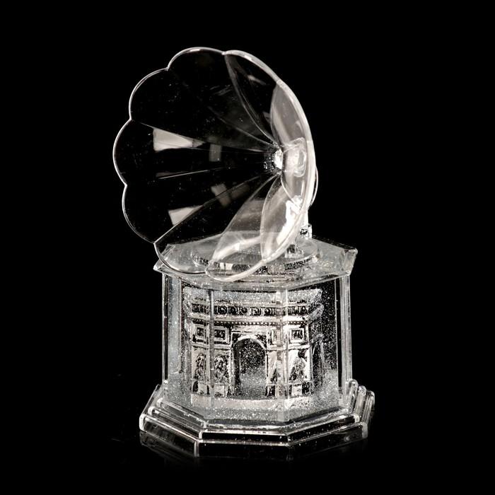 """Сувенир настольный подставка для ручки """"Триумфальная арка"""" граммофон 12,7х7,7х7,7 см"""