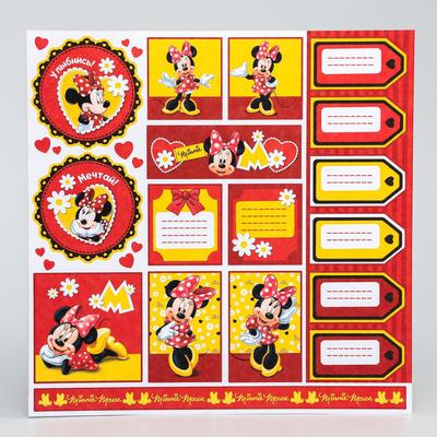 "Paper for scrapbooking 30,5*30,5 ""Dream"", Minnie mouse"