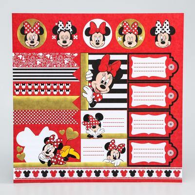 """Paper for scrapbooking 30,5*30,5 """"Dream"""", Minnie mouse"""