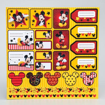 "Paper for scrapbooking 30,5*30,5 ""You're super!"", Mickey mouse and friends"