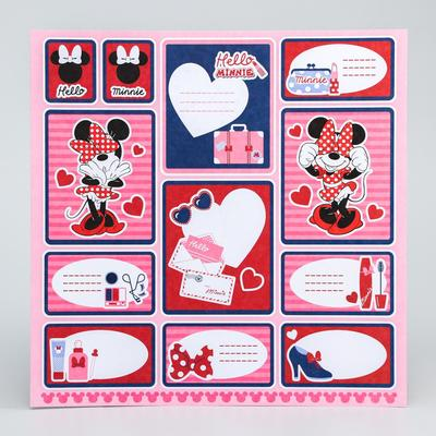 "Paper for scrapbooking 30,5*30,5 a ""Hello, Minnie"", Minnie mouse"