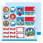 """Бумага для скрапбукинга 30,5*30,5 """"С Новым Годом!"""", Микки Маус и друзья"""