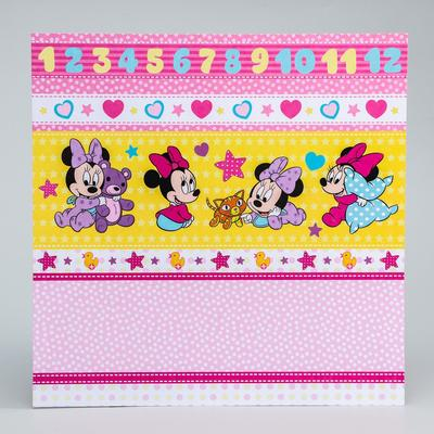 """Paper for scrapbooking 30,5*30,5 """"Our joy"""", Minnie mouse"""