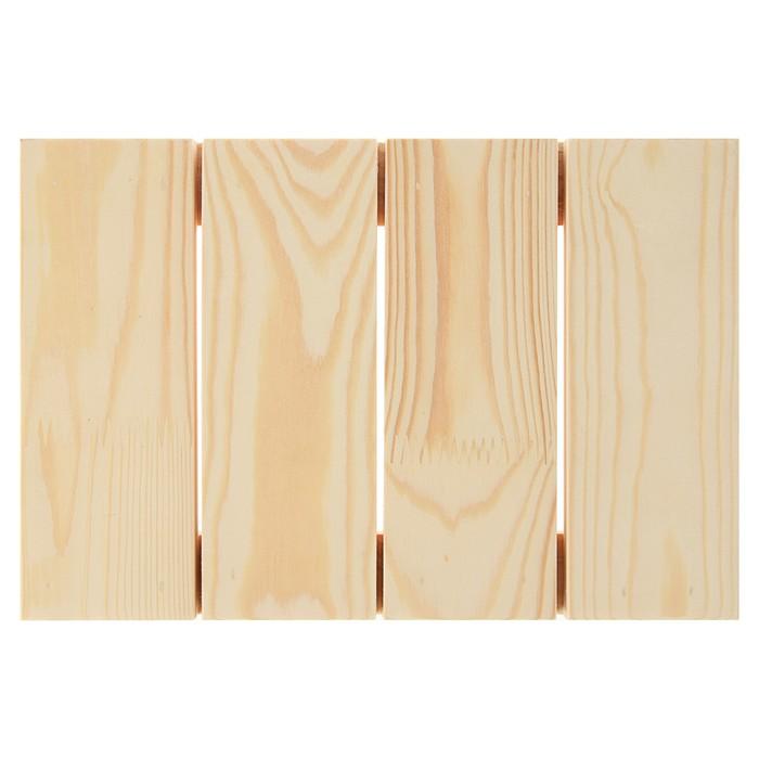 Планшет деревянный модульный с рейкой 20х30х2.7 см (толщина 18 мм) Школа художников