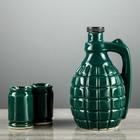 "Винный набор ""Граната"", 0,5л малая, 3 предмета, зелёная"