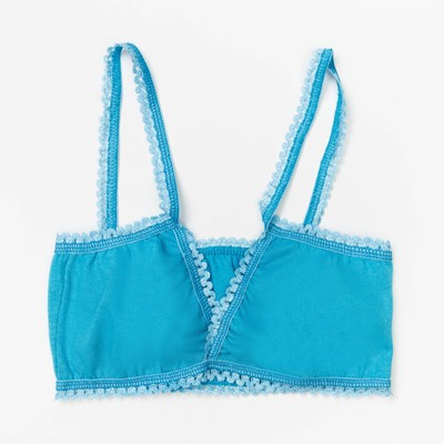 Майка (лиф) для девочки, рост 134-140 см, цвет голубой 1229-72
