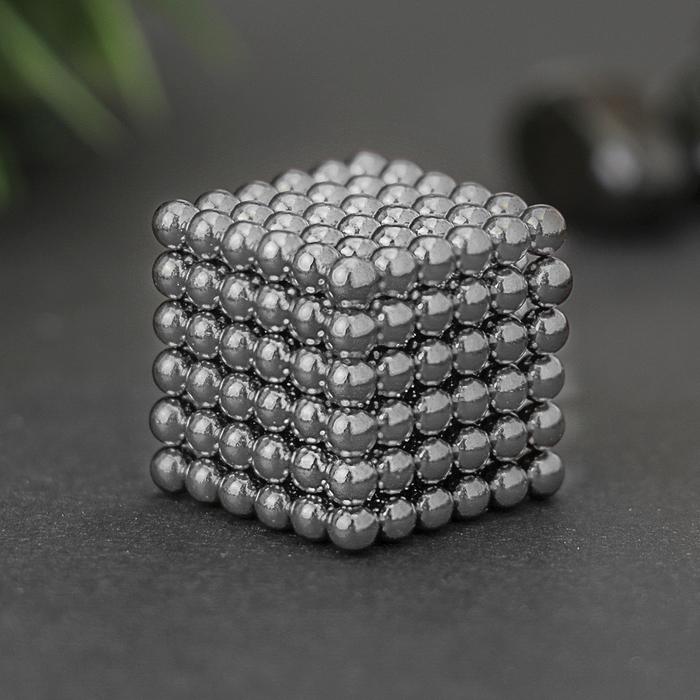 Неокуб серебряный, 216 шариков, d=0,3 см