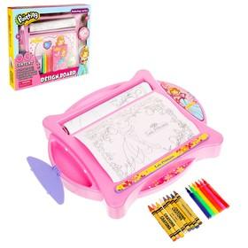 Доска для рисования «Учимся рисовать», с фломастерами и карандашами