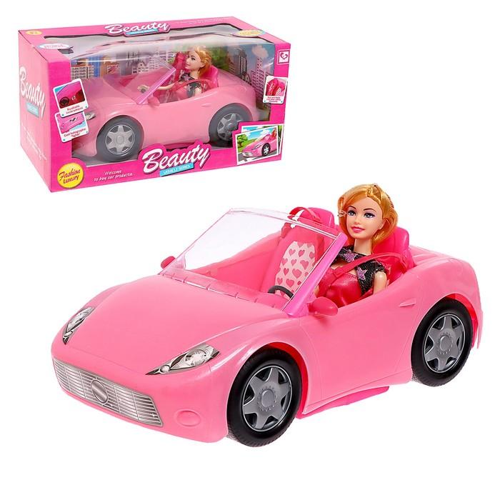 Кукла модель «Лена» на машине, с аксессуарами