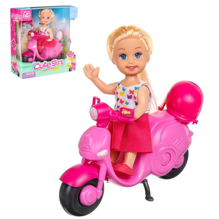 """Кукла-малышка """"Ева"""" на скутере, с аксессуарами"""