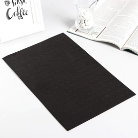 """Клейкая лента односторонняя """"Круглый чёрный"""" диаметр 1,5 см на листе 228 шт 33,5х21 см"""