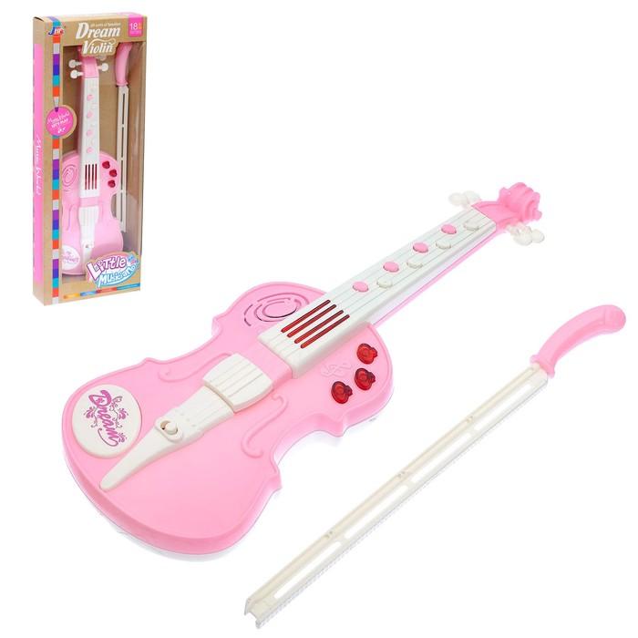 Музыкальная игрушка скрипка «Скрипач», световые и звуковые эффекты, МИКС