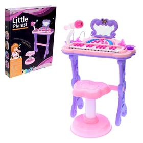 Пианино «Мечта девочки», с USB и MP3 - разъёмами, стульчиком, зеркалом, микрофоном