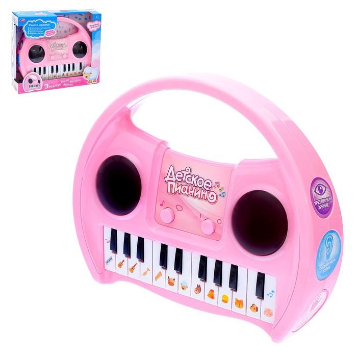 Развивающая игрушка «Детское пианино», звуковые эффекты, голоса животных, 3D-свет, МИКС