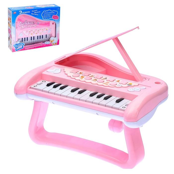 Развивающая игрушка «Детское пианино», звуковые эффекты, викторины, голоса животных, МИКС