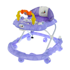 Ходунки «Веселые друзья», 6 больш. колес, муз. игрушки, фиолетовый - фото 961073