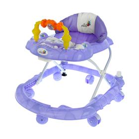 Ходунки «Веселые друзья», 6 больш. колес, муз. игрушки, фиолетовый