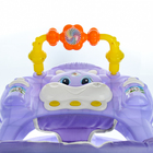 Ходунки «Веселые друзья», 6 больш. колес, муз. игрушки, фиолетовый - фото 961074