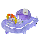 Ходунки «Веселые друзья», 6 больш. колес, муз. игрушки, фиолетовый - фото 961075