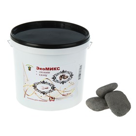 "Камень для бани ""Экомикс"" хромит, кварц галтованный, ведро 20 кг"