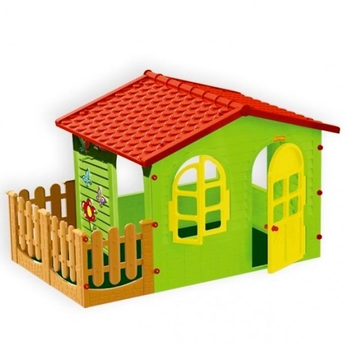 Игровой домик с забором Mochtoys садовый