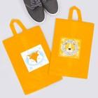 """Набор мешков для обуви с ручкой """"Лиса. Лев"""", 2 шт., 35 х 25,5 см"""