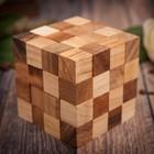 "Головоломка дерево ""Кубик коричневый"" 9х9х9 см"