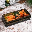 Шкатулка - купюрница «Поросята с бокалами», 8,5×17 см, лаковая миниатюра